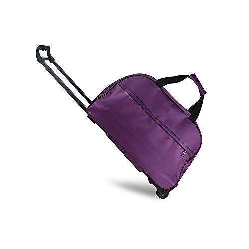 LRHD Portable Hand Luggage, Waterproof Cloth+polyester Cloth 2-wheel Drawbar Luggage, 20-35L Large-capacity Carry-on Luggage, Suitable for Family Travel, Business Trip