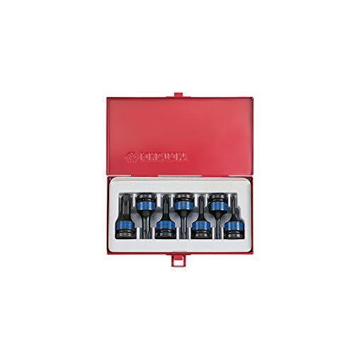 KT Pro herramientas 4417pp 1/2'de vaso de impacto torx Juego De Llaves De Vaso