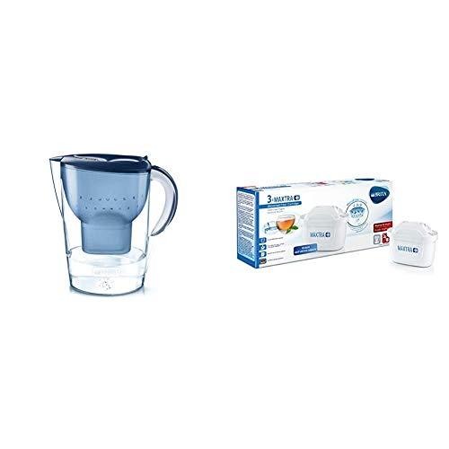 Brita Marella XL - Caraffa Filtrante per Acqua, 3.5 Litri, 1 Filtro Maxtra+ Incluso & filtri MAXTRA+ Pack 3, Cartucce per caraffe filtranti, 3 filtri x 3 mesi di acqua filtrata