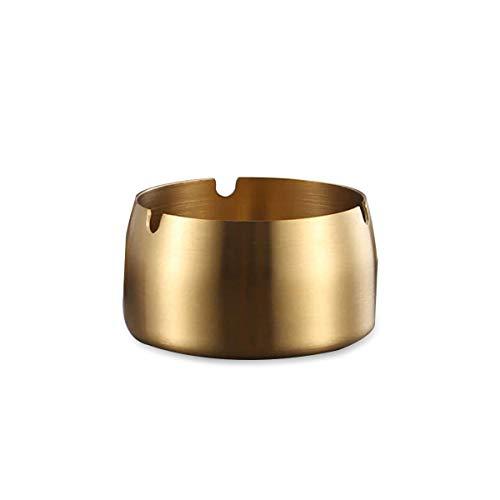 Schlichter Aschenbecher, Edelstahl, Aschenbecher, Smoker, Schreibtisch, Smoking, Home Office, Dekoration, Tablett Gold