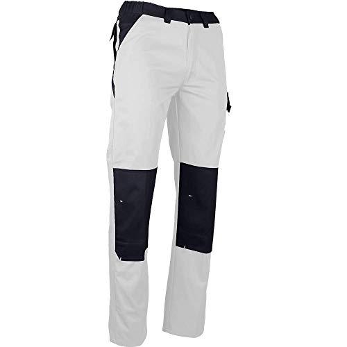 LMA Pantalon de Peintre Poches genoux-NUANCIER-blanc-48