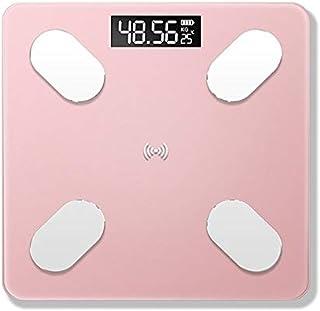 Báscula de peso con Bluetooth para el baño, báscula inteligente retroiluminada, báscula de peso corporal, báscula de peso de oro rosa (color: oro rosa)