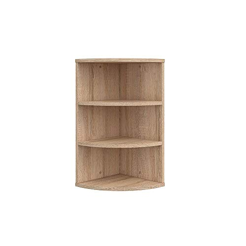 Vicco Corner Shelf Ecki Bookcase Sonoma 3 compartments Hanging Shelf Bathroom Shelf Wall Shelf