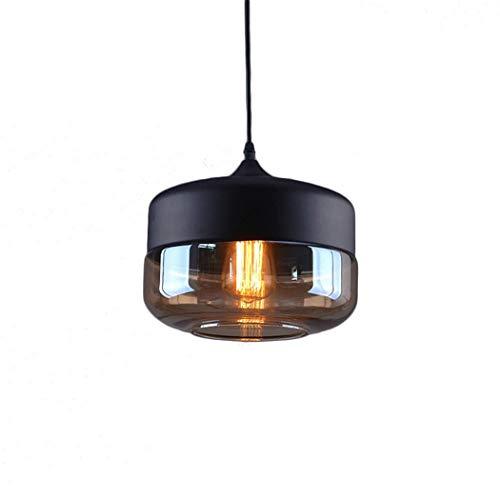 Weare Home Abat-jour rétro en verre transparent - Diamètre : 25 cm - Hauteur : 21 cm