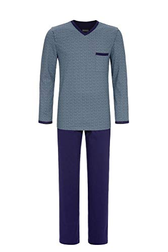 Ringella Herren Pyjama mit V-Ausschnitt Marine 54 0541204P, Marine, 54