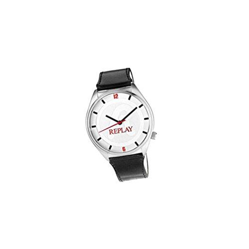 Replay Herren Analog Quarz Uhr mit Leder Armband RX5303AF