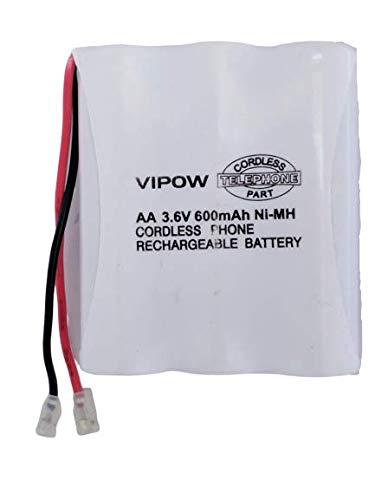 KEBILSHOP Vipow 3 Cell AA 3.6v 600mAH Ni-Mh Cordless Phone Rechargeable Battery Pack for Cordless.