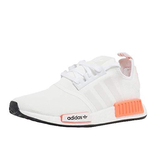 adidas NMD_R1 FX3097 WEIß NEON Sneaker Herrenschuhe (Fraction_47_and_1_Third)