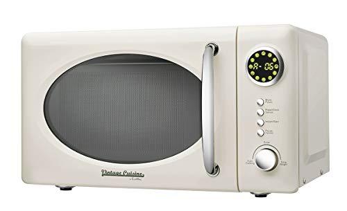 700W 18,5L Solo-Mikrowelle Vintage Cuisine by Cooking - 12 Automatikprogramme/5 Leistungsstufen (Cream)
