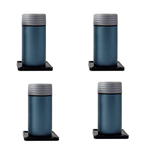 Meubelpoten WYZQQ Nylon Kunststof, Verstelbare Kast Voet Sofa Voet Koffie Tafel Voet Ondersteuning Been Bed Frame - 4 Stuks - Laadlager 120kg - Fijne Tuning 10cm-4 Stuks 100mm Blauw
