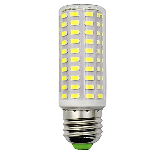 10W E27 LED Compact Corn Bulb Equivalent to 100W-120W Incandescent 6500K Cool White 1500LM Super Bright Clear Light Non-dimmable No Flicker Edison Screw for Video Light/ Indoor Lighting(Pack of 1)