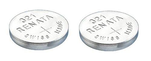 2 x Renata 321 reloj batería Suizo hizo plata óxido 1.5V SR616SW también conocido como
