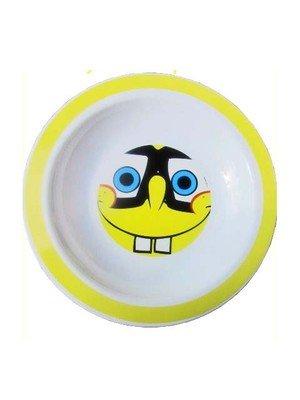 Schwammkopf Spongebob Melamin Teller flach Brille