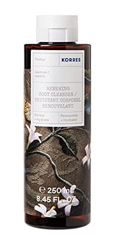 KORRES Jasmine Revitalisierendes Duschgel mit aktiv Aloe-Vera, dermatologisch getestet, vegan, 250 ml
