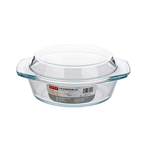 Huishoudelijke Servies Magnetron Bowl, Transparant Glas Schaal Met Deksel Salad Bowl, B, 1.4L