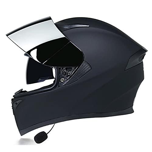 LIRONGXILY Casco Moto Modular Modular Casco de Moto Bluetooth, Casco Moto Integrado con Doble Visera para Motocicleta Scooter, ECE Homologado (Color : #11, Size : 59-60CM(L))