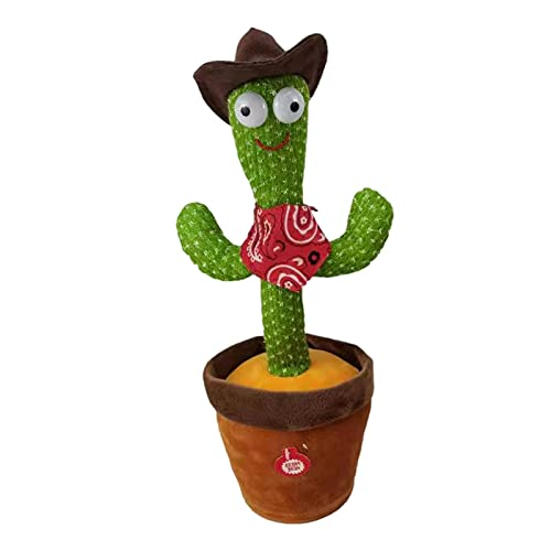 12.6in Dancing Cactus Toy Singing 120 English Songs Electronic Shake Soft Plush Doll Cactus Toys for Kids Early Education Toy