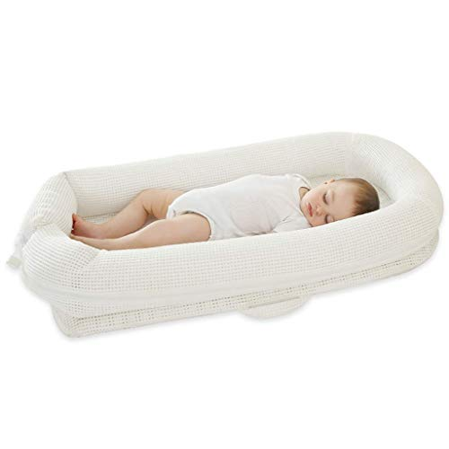 Great Deal! TONGSH The Breathable Baby Lounger Portable Nest for Tummy Time and Playing Super Soft a...