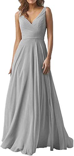 Women's Lace Appliques Mother of The Bride Dress Tulle Long Sleeves Evening Prom Gown BeadedSilver Grey 22 Plus