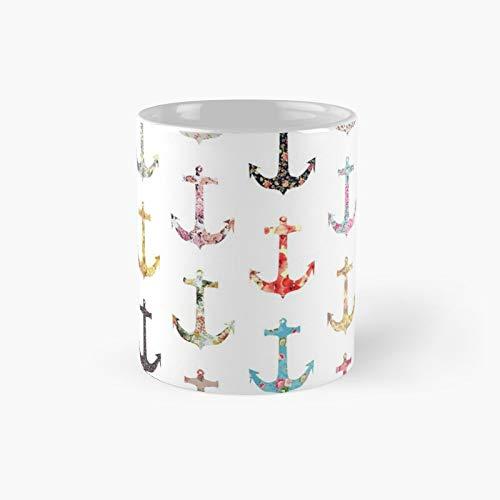 Kaffeetasse im Vintage-Stil mit Seefahrer-Motiv, 325 ml