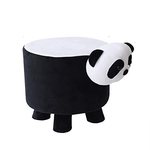 HXSKI Animales De Dibujos Animados Banco De Zapatos De Pasillo,Ligero Reposapiés Pequeño,Portátil Escabels,para Sala De Estar Dormitorio-Panda 25x28cm(10x11inch)