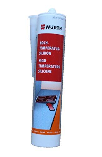 Würth - Hochtemperatursilikon 310ml - elastische Abdichtung im Herd-, Ofen-, Heizungs-, Klimageräte, Waschmaschinen- u. Trockenbau