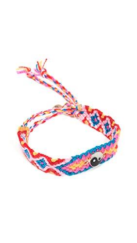 Maison Irem Women's Friendship Pull-Tie Bracelet, Yin Yang Silver, One Size