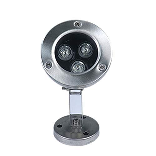 AmandaJ Unterwasser-Lichter, Edelstahl, Unterwasser-Lampe für Schwimmbad, helle Teich-Brunnen, Dekoration, nicht null, warmweiß, 3w