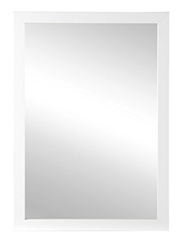 Spiegel Wandspiegel Flurspiegel | B 48 x H 68 cm | Rahmen Weiß Hochglanz