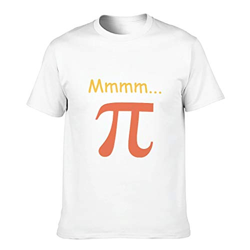 Camiseta de algodón para hombre Mmm Pi cómoda cuello redondo -pi Tee para varios activados