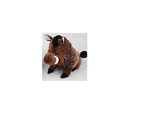 Stofftier Plüsch Wildschwein Figur ca. 25 cm Farbe dunkelbraun mit hellbrauner Mähne sitzend Plüschtier Kuscheltier Jagd Trophäe Deko Wildschweinfigur Wildschweine Stofftiere Plüschtiere Spielzeug