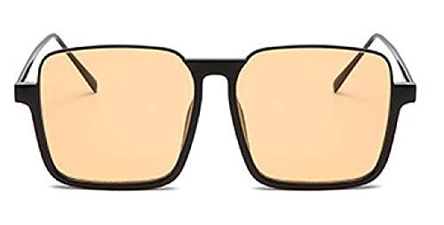MANW Gafas de sol cuadradas con montura grande anti luz azul gafas de sol-C