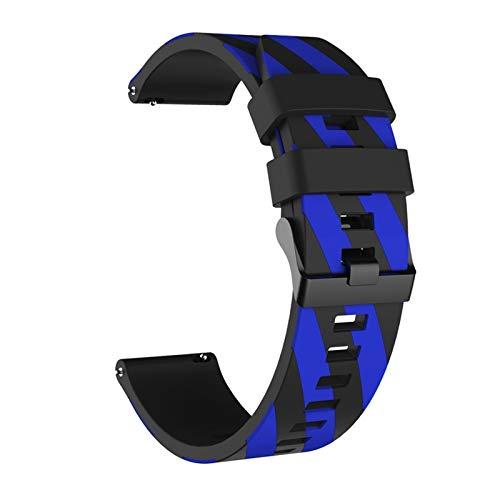 DANGAO Stripe de Silicona Correa de muñeca para MI 3 4 / Stratos 2 / Pace/GTS 42mm 47mm Banda para Huawei Watch GT 2 GT2 (Color : Style3, Size : 20mm Width)