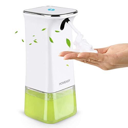 homeasy Seifenspender Automatisch 350ml Wandmontage Schaumseifenspender mit Wandhaken No Touch Soap Dispenser