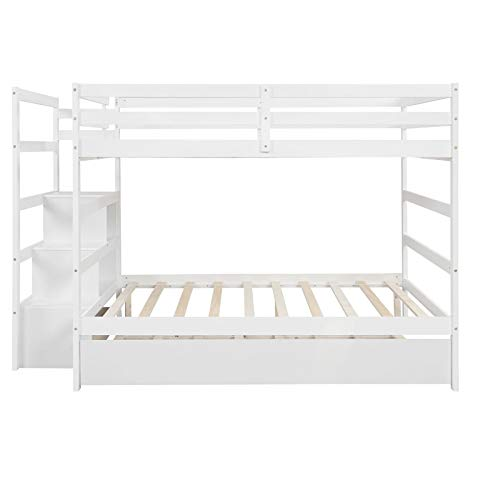 Bunk Bed with Bunk Bed Locker and Drawer Without Box Spring