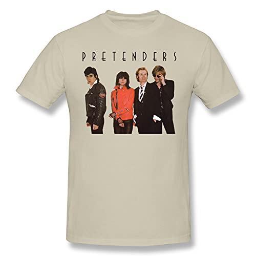 Pretenders Men's Basic Short Sleeve T-Shirt Natural XL
