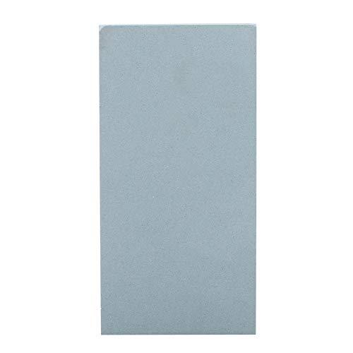 Grindstone 10.4 cm x 5.8 cm x 0.4 cm natural portátil afilar piedra afiladora afiladora herramienta para tijeras de cocina (500 # verde claro)