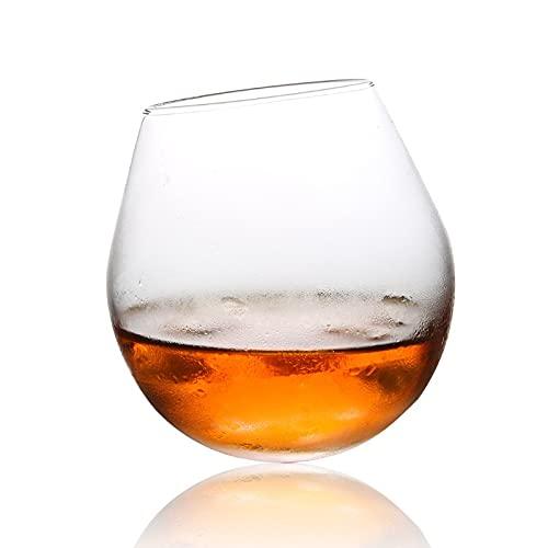 Forma esférica Whiskey Vaso de Vidrio Brandy Snifters Shaky Chateau Whisky Cognac Cup Bar Sphere Ball Roly-Poly Vin's Gafas (Capacity : A)