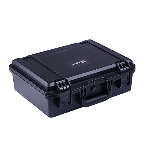 Lykus HC-3810 Wasserdicht Kamerakoffer/Fotokoffer mit anpassbar Rasterschaumstoff, Innengröße 38x28x13.5 cm, geeignet für Pistole, DSLR Kamera, kleine Drohne, Camcorder, Actionkamera und andere