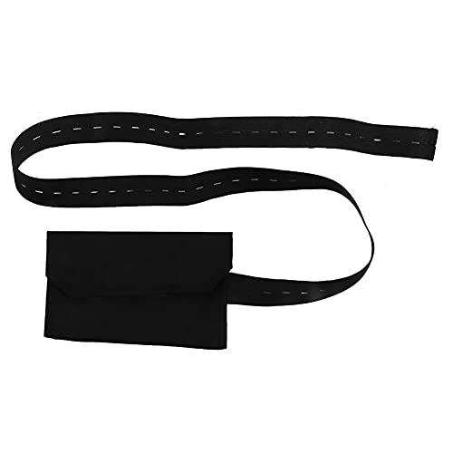 RUIRUIY Cinturón de catéter de diálisis peritoneal con botón Ajustable Protección del Tubo peritoneal del Paciente(Negro)