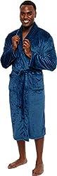 Ross Michaels Mens Plush Shawl Collar Kimono Bathrobe Robe