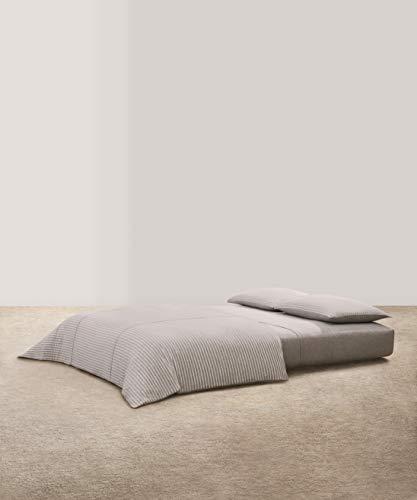 Calvin Klein Home Lennox Duvet, Full/Queen, Grey/Cream