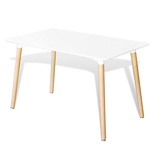 vidaXL Esstisch MDF Rechteckig Esszimmertisch Küchentisch Wohnzimmer Tisch