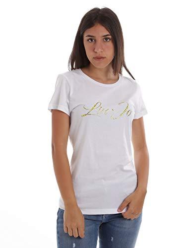 Liu Jo Jeans WA0427J5703 - Camiseta de Manga Corta, Color Blanco 11111 Bianco Ottico XL