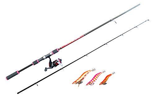 RUNA HISANO(ルナヒサノ) エギングセット(エギングロッド&リール&エギ3個セット)7.6ft アオリイカ コウイカ イカ釣り 初心者 入門セット