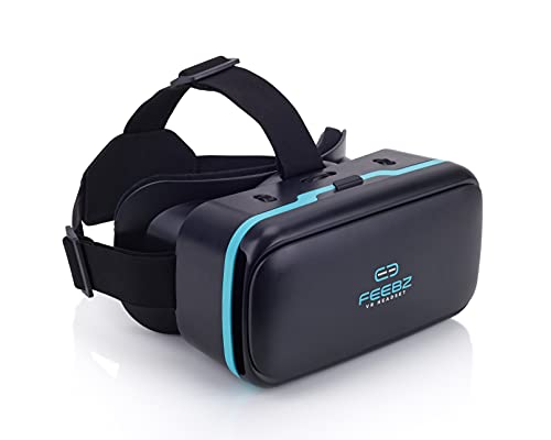 VR Headset Compatible with iPhone & Android + Built-in Button | Video...