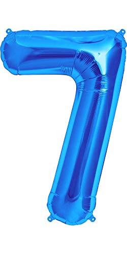 Dancing Queen Folienballon Nummer 7 Jahre Luftballon zahl als Riesenzahl 7 für Geburtstagszahlen Luftballon als aufblasbare Zahlen Geburtstag sowie Geburtstag sieben Zahl XXL 100cm groß