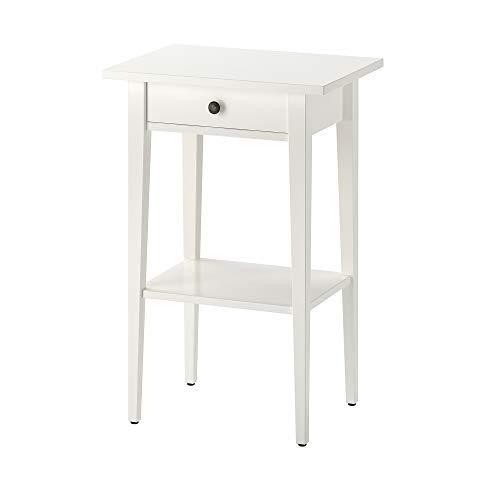 IKEA Hemnes 003.742.97 - Mesita de noche (46 x 33 cm), color blanco