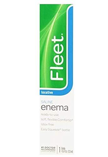 Fleet Enema, Ready-to-Use Saline Laxative, 4.5 Fluid Ounce