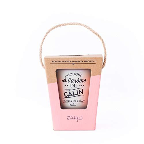 Mr Wonderful WOM02916 Bougie à l'arôme de câlin - Vanilla Ice Cream, Combinaison, Multicolore, 10,4 x 10,4 x 13 cm